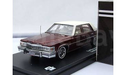 Cadillac de Ville Sedan Year 1977 wine red 1:43 Triple9, масштабная модель, scale43