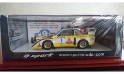 Audi Sport quattro S1 E2 Walter Rohrl / Christian Geistdorfer, масштабная модель, Spark, 1:43, 1/43