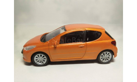 Peugeot 207, масштабная модель, Welly, scale43
