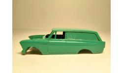 Кузов москвич 433/434 зеленый, запчасти для масштабных моделей, Агат/Моссар/Тантал, scale43
