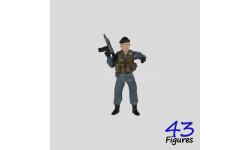 612с боец спецподразделения полиции фигурка 1/43 43figures, фигурка, 1:43