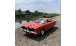 Dodge Challenger 1969 R/T 1:24, масштабная модель, New-Ray Toys, 1/24