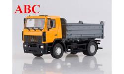 МАЗ-5550 самосвал, желтый, Код модели: 101340.2, масштабная модель, Автоистория (АИСТ), scale43