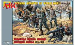 Немецкая пехота Первой мировой войны 1914-1918 г. , Код модели: 8083, миниатюры, фигуры, Звезда, scale72