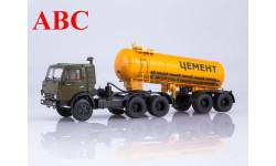 КАМАЗ-54112 с полуприцепом-цементовозом ТЦ-11, Код модели: 102101, масштабная модель, Автоистория (АИСТ), 1:43, 1/43