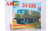 Сборная модель Армейский грузовик ГАЗ-34 6x6, Код модели: 1390AVD, сборная модель автомобиля, AVD Models, scale43