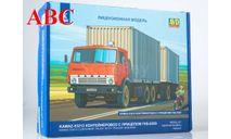 Сборная модель КАМАЗ-53212 контейнеровоз с прицепом ГКБ-8350, Код модели: 7064AVD, сборная модель автомобиля, AVD Models, scale43
