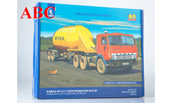 Сборная модель КАМАЗ-54112 с полуприцепом АСП-25, Код модели: 7066AVD, сборная модель автомобиля, AVD Models, 1:43, 1/43