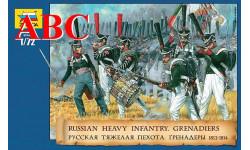 Русская тяжёлая пехота Гренадёры 1812-1814 гг. , Код модели: 8020, миниатюры, фигуры, Звезда, scale72