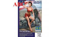 Мэрилин. Набор №1. Серия 'Пин-ап' , Код модели: MB24001, миниатюры, фигуры, MasterBox, 1:24, 1/24