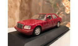 Mercedes Benz E class Saloon W124 Facelift 1:43 Minichamps Imperial Red Мерседес Миничампс