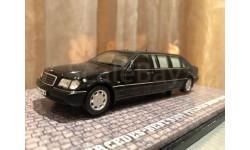 Mercedes Benz S 500 Pullman Guard W220 Ельцин 1:43 Dip GON Мерседес Дип ГОН ФСО Охрана Кортеж