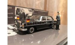 Mercedes Benz 300 SEL 6.3 W109 1:43 Minichamps Мерседес Миничампс Kanzler Willy Brandt, масштабная модель, 1/43, Mercedes-Benz
