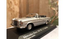 Mercedes Benz 280 Se 3.5 Cabrio W111 1:43 Minichamps Мерседес Миничампс