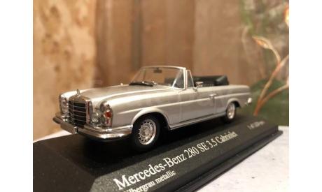 Mercedes Benz 280 Se 3.5 Cabrio W111 1:43 Minichamps Мерседес Миничампс, масштабная модель, Mercedes-Benz, scale43