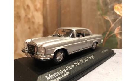 Mercedes Benz 280 Se 3.5 Coupe W111 1:43 Minichamps Мерседес Миничампс, масштабная модель, Mercedes-Benz, scale43