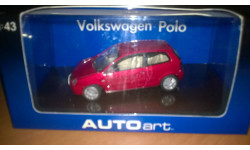 Volkswagen Polo, масштабная модель, Autoart, 1:43, 1/43