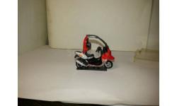 BMW C1Cararama 1/43 красный, серебро, масштабная модель мотоцикла, Bauer/Cararama/Hongwell, 1:43