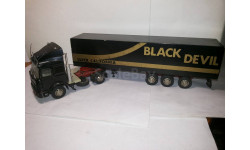 IVECO TURBOSTAR 1984 SEMI FOURGON BLACK DEVIL ( old car 1-43) 1/43 Раритет, масштабная модель, 1:43