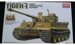 1:35  Academy  Тигр Tiger-1 Early Version, сборные модели бронетехники, танков, бтт, 1/35