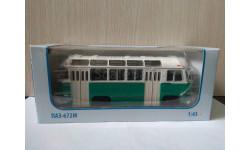 ПАЗ - 672М    БЕЛО - ЗЕЛЁНЫЙ, масштабная модель, Советский Автобус, 1:43, 1/43
