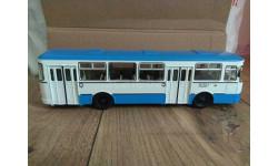 ЛИАЗ 677М СЕРО - СИНИЙ, масштабная модель, Советский Автобус, 1:43, 1/43