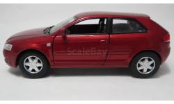 Audi A3, масштабная модель, 1:32, 1/32, Kinsmart, Peugeot