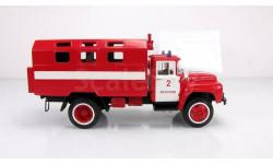 ЗИЛ 130 кунг, пожарный автомобиль технической службы, масштабная модель, СарЛаб, 1:43, 1/43