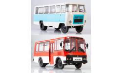 2 модели Кубань-Г1А1-О2+ПАЗ 3205, масштабная модель, MODIMIO, 1:43, 1/43