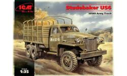 Studebaker US6, армейский грузовой автомобиль, сборная модель автомобиля, 1:35, 1/35, ICM