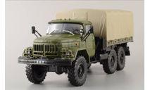 ЗИЛ-131 хаки, масштабная модель, Автолегенды СССР журнал от DeAgostini, scale43