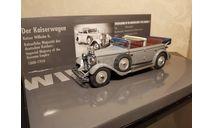 Mercedes Benz 770K Cabriolet F Kaiser Wilhelm II, Minichamps 1:43, масштабная модель, Mercedes-Benz, 1/43