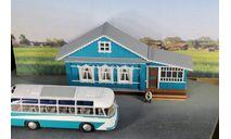 Фасад сельского дома полноразмерный, элементы для диорам