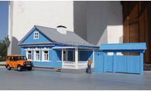 Ворота сельского дома с калиткой 1/43, элементы для диорам