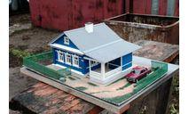 Сельский дом с верандой открытого типа, элементы для диорам