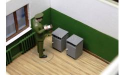 Тумбочка армейская 1/43, элементы для диорам