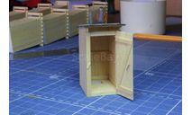 Туалет деревянный без сидения 1/43, элементы для диорам