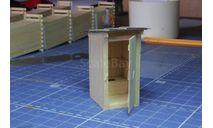 Макет деревянного туалета с сидением., элементы для диорам