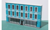 Фасад 3-эт. дома с магазином, элементы для диорам