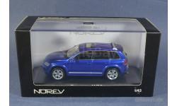 Volkswagen Touareg Norev W12 синий 1-43, масштабная модель, 1:43, 1/43