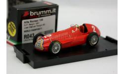 F1 champion 1951 Brumm GP Belgia Fangio Alfa Romeo 1-43