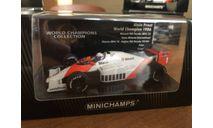Minichamps F1 чемпион WCC serie 1986 McLaren Prost 1-43 (лот в мск), масштабная модель, scale43
