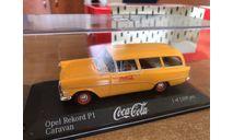Opel Record caravan Coca cola Minichamps 1-43 (лот в мск), масштабная модель, scale43