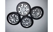 1:18 Комплект колес BMW (Kyosho) в сборе, запчасти для масштабных моделей, scale18