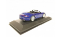 Porsche 911 Carrera 4S Cabrio синий Minichamps 1:43, масштабная модель, scale43