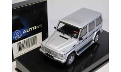 1/43 Mercedes-Benz G class Gelandewagen LWB silver. Производитель AUTOART, масштабная модель, 1:43