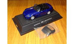 Honda S2000, с тентом, Montecarlo Blue, Ebbro, 1:43, металл, масштабная модель, 1/43