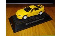 Honda Integra Type R, Yellow, Ebbro, 1:43, Металл, масштабная модель, 1/43