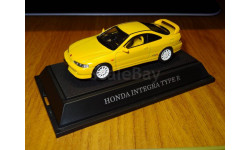 Honda Integra Type R, Yellow, Ebbro, 1:43, Металл, масштабная модель, scale43