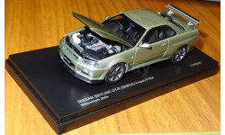 Nissan Skyline GT-R BNR34 V-Spec Nur, Kyosho, металл, 1:43